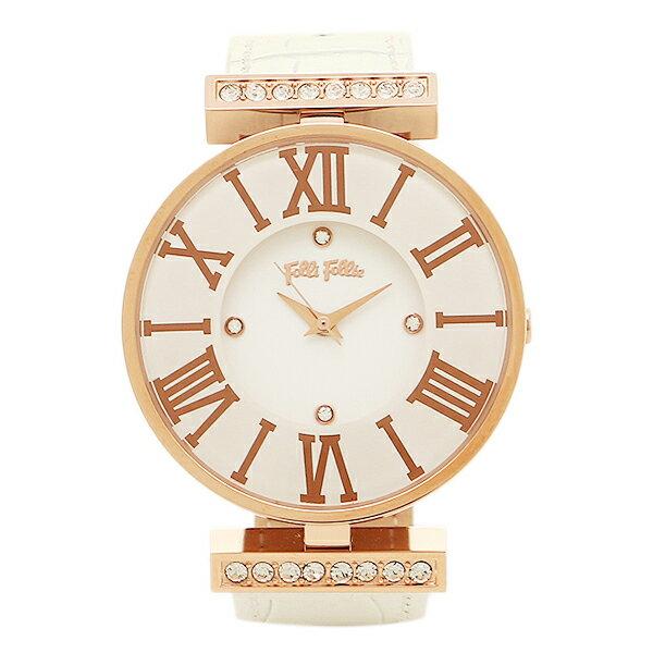 【期間限定ポイント10倍】フォリフォリ 時計 FOLLI FOLLIE WF1B029SSSWH ダイナスティ DYNASTY レディース腕時計ウォッチ ホワイト/ピンクゴールド クリスマスセール
