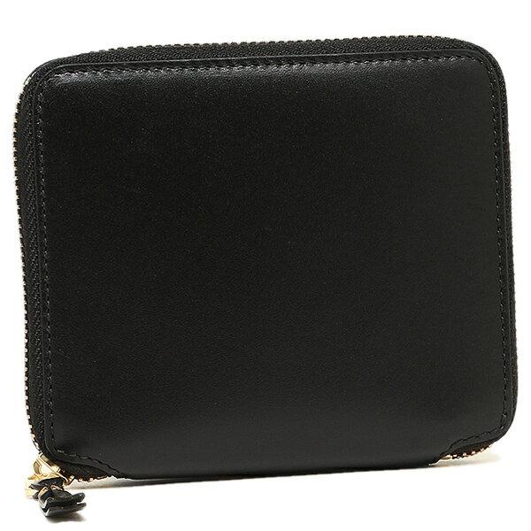 コムデギャルソン 財布 レディース/メンズ COMME des GARCONS SA2100 CLASSIC LEATHER LINE ZIP AROUND SMALL WALLET 二つ折り財布 BLACK