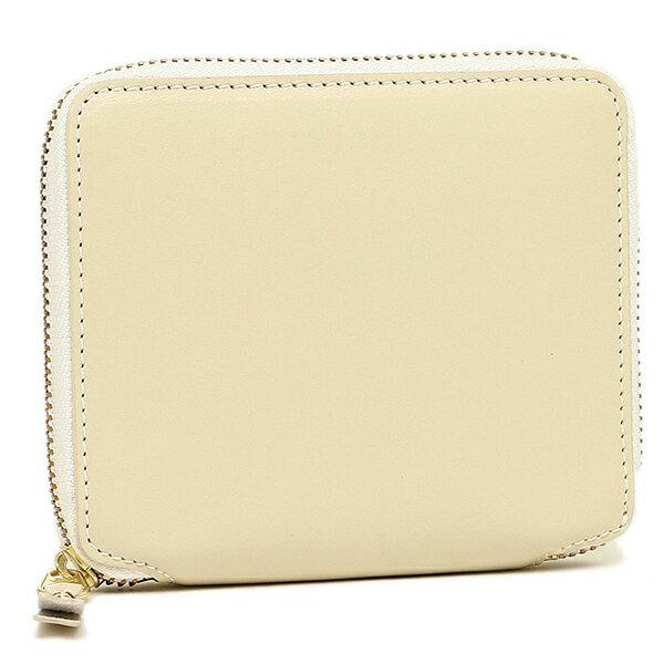 コムデギャルソン 財布 レディース/メンズ COMME des GARCONS SA2100 CLASSIC LEATHER LINE ZIP AROUND SMALL WALLET 二つ折り財布 OFF WHITE