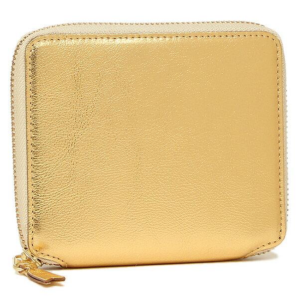 コムデギャルソン 財布 レディース/メンズ COMME des GARCONS SA2100G GOLD LINE ZIP AROUND SMALL WALLET 二つ折り財布 GOLD