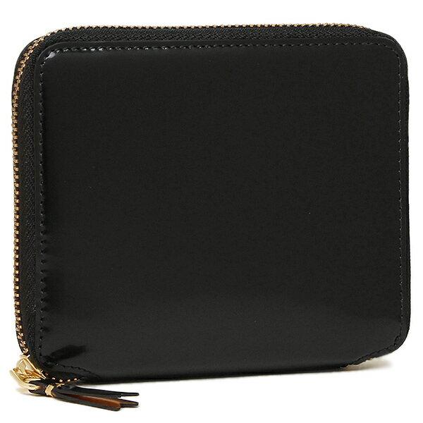 コムデギャルソン 財布 レディース/メンズ COMME des GARCONS SA2100MI MIRROR INSIDE ZIP AROUND SMALL WALLET 二つ折り財布 BLACK/GOLD