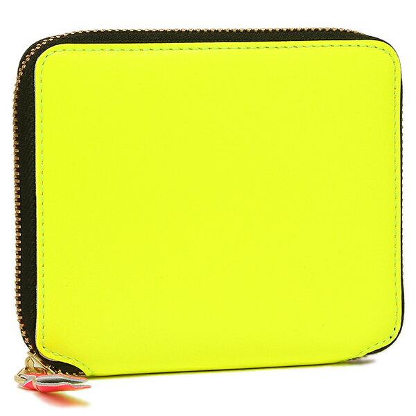 コムデギャルソン 財布 レディース/メンズ COMME des GARCONS SA2100SF SUPER FLUO ZIP AROUND SMALL WALLET 二つ折り財布 YELLOW