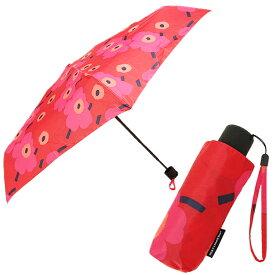 【4時間限定ポイント10倍】マリメッコ 傘 MARIMEKKO レディース 038653 301 MINI-UNIKKO MINI MANUAL UMBRELLA 折りたたみ傘 RED/DARK RED