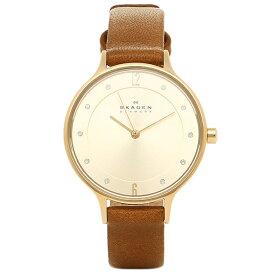 スカーゲン 腕時計 SKAGEN SKW2147 ANITA アニタ レディース腕時計ウォッチ ブラウン/シャンパンゴールド