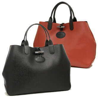Longchamp包LONGCHAMP 1681 850 C09 ROSEAU REVERSIBLE大手提包女士BLACK/BRICK