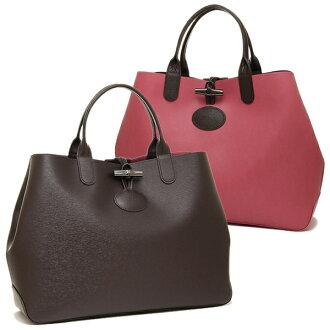 Longchamp包LONGCHAMP 1681 850 C10 ROSEAU REVERSIBLE大手提包女士EBONY/PINK