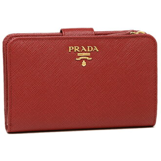 9bd8427245a8 Brand Shop AXES: Prada purse PRADA 1ML225 QWA F068Z SAFFIANO METAL two  bi-fold wallet FUOCO   Rakuten Global Market