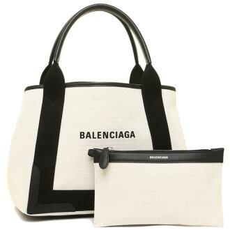 Balenciaga bag BALENCIAGA 339933 AQ38N1081 NAVY for CABAS S tote bag NATUREL/NOIR