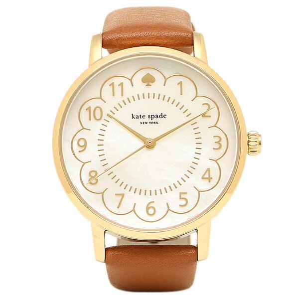 【エントリーでポイント最大19倍】ケイトスペード 腕時計 レディース ホワイトパール ブラウン 1YRU0835 クリスマスセール