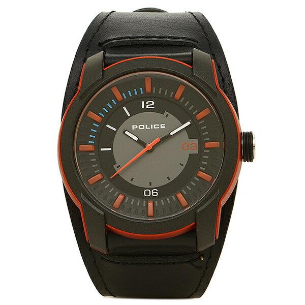 ポリス 時計 メンズ POLICE PL14438 JPOB/13 APOLLO 5気圧防水 腕時計 ウォッチ BLACK/ORANGE
