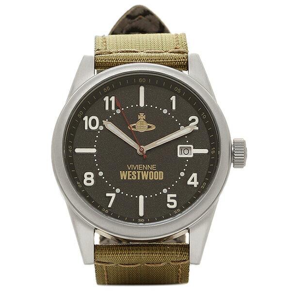 ヴィヴィアンウエストウッド 時計 VIVIENNE WESTWOOD VV079BKGR バトラーズ ワーフ メンズ腕時計 ウォッチ ブラック/シルバー/カーキ