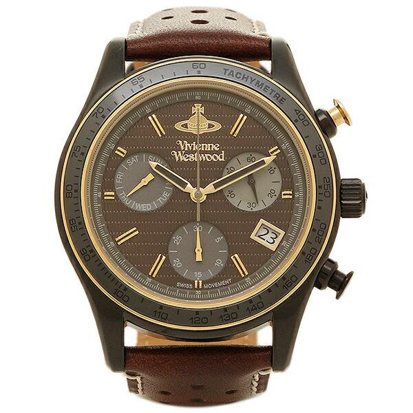 ヴィヴィアンウエストウッド 時計 VIVIENNE WESTWOOD VV142BRBR サザビークロノグラフ メンズ腕時計ウォッチ ブラウン/ブラック/ブラウン クリスマスセール