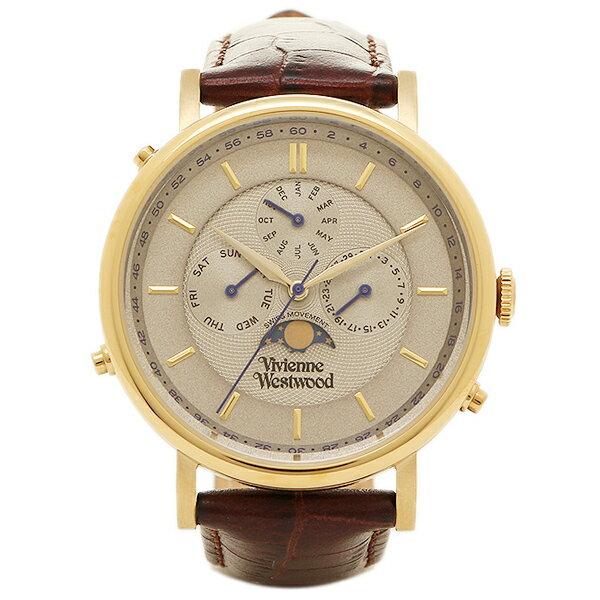 ヴィヴィアンウエストウッド 時計 VIVIENNE WESTWOOD VV164CHBR ポートランド メンズ腕時計 ウォッチ ホワイト/ゴールド/ダークブラウン