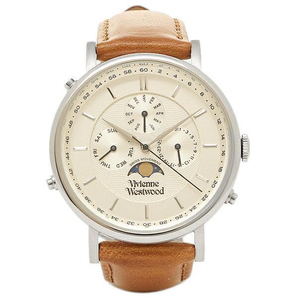 ヴィヴィアンウエストウッド 時計 VIVIENNE WESTWOOD VV164SLTN ポートランド メンズ腕時計 ウォッチ ホワイト/ゴールド/ブラウン