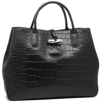 Longchamp包LONGCHAMP女士1986 859 001 rozokuroko ROSEAU CROCO TOP HANDLE BAG S手提包TAUPE