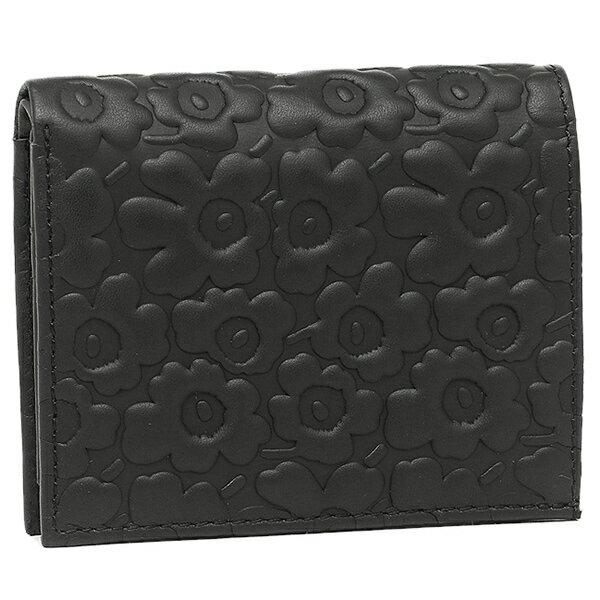 【4時間限定ポイント10倍】マリメッコ 財布 MARIMEKKO 043650 999 カトリ KATRI 三つ折り財布 レディース BLACK