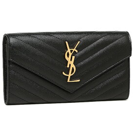【返品OK】サンローランパリ 財布 レディース SAINT LAURENT PARIS 372264 BOW01 1000 MONOGRAMME SAINT LAURENT MATELLASSE 長財布 NERO