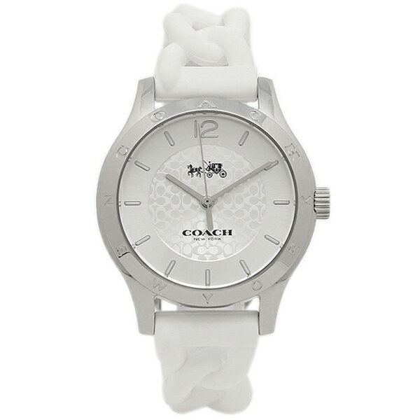 コーチ 腕時計 レディース アウトレット COACH W6042 WHT ホワイト シルバー クリスマスセール