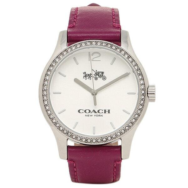 【期間限定ポイント10倍】コーチ 腕時計 レディース アウトレット COACH W6185 FUS シルバー ピンク クリスマスセール