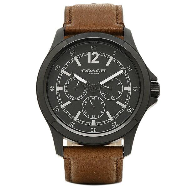 【6時間限定ポイント10倍】コーチ 腕時計 レディース アウトレット COACH W5007 BK/SD ブラック/サドル