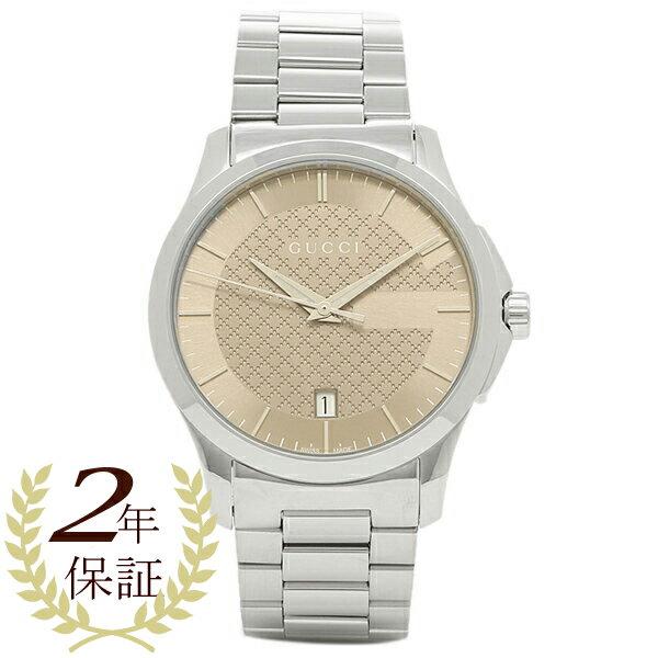 グッチ 時計 GUCCI YA126445 Gタイムレス メンズ腕時計 ウォッチ シルバー/ブラウン