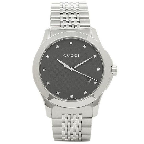 グッチ メンズ 腕時計 GUCCI YA126405 ブラック シルバー