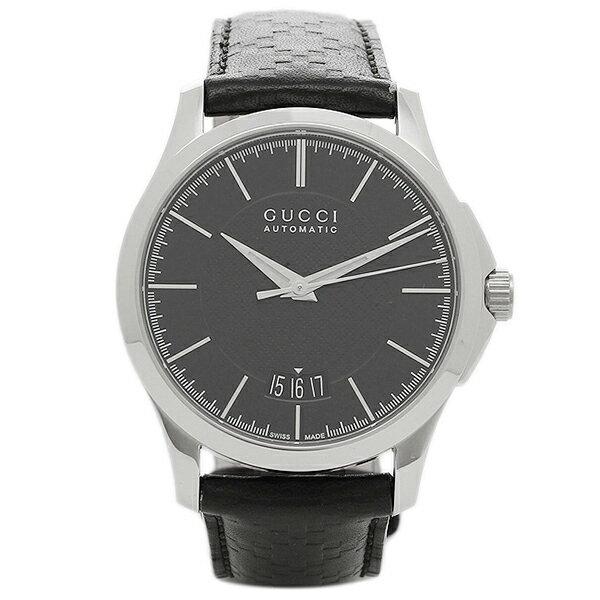 【24時間限定ポイント5倍】グッチ メンズ 腕時計 GUCCI YA126430 ブラック シルバー