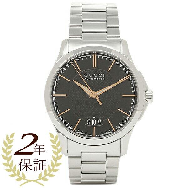 グッチ メンズ 腕時計 GUCCI YA126432 ブラック シルバー