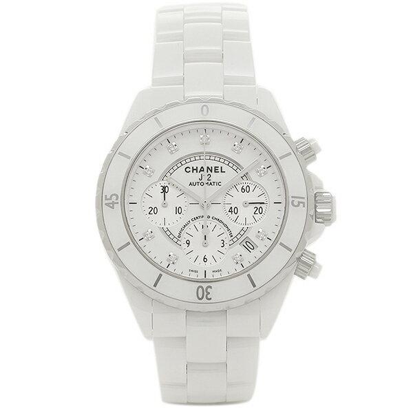 シャネル 腕時計 CHANEL J12 H2009 41MM クロノグラフ 9Pダイヤモンド 自動巻き ホワイトセラミック メンズウォッチシリアル有