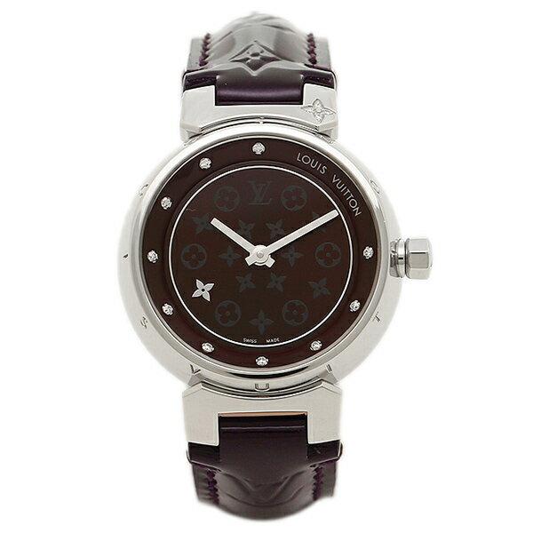 【エントリーでポイント最大19倍】ルイヴィトン 腕時計 LOUIS VUITTON Q12M30 28mm アマラント シルバー クリスマスセール