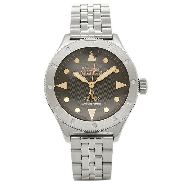 ヴィヴィアンウエストウッド メンズ腕時計 VIVIENNE WESTWOOD VV160BKSL ブラック シルバー