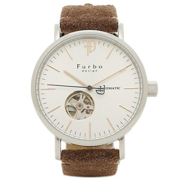 【6時間限定ポイント10倍】フルボデザイン 腕時計 メンズ Furbo design F2002SSIBR ホワイト ブラウン
