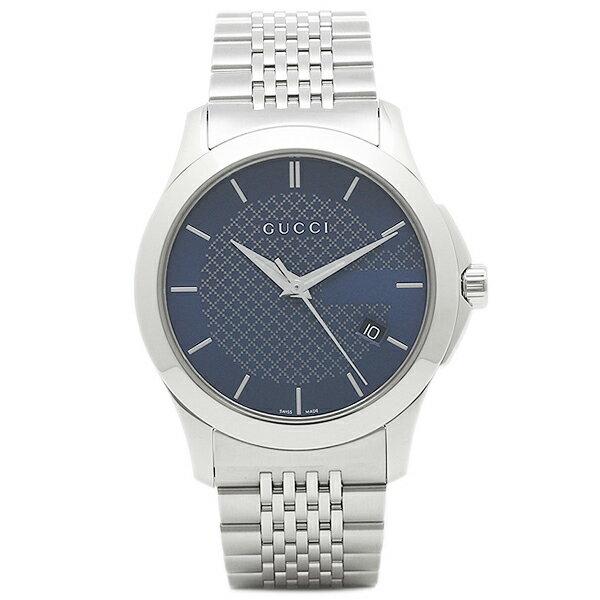 【24時間限定ポイント5倍】グッチ 腕時計 レディース GUCCI YA126481 シルバー ブルー