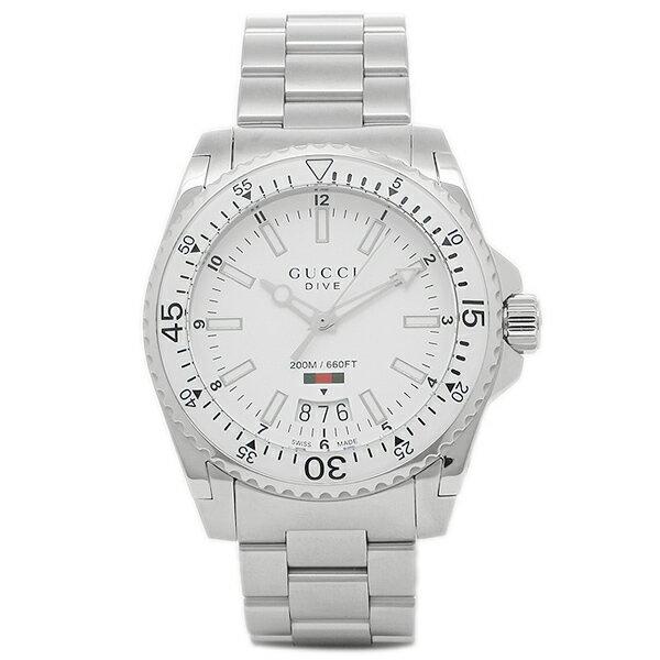グッチ 腕時計 メンズ GUCCI YA136302 ホワイト シルバー
