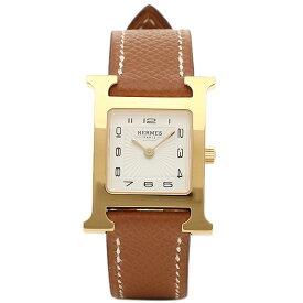 【4時間限定ポイント10倍】エルメス 腕時計 HERMES HH1.201.131/UGO W036732WW00 Hウォッチ ブラウン レディース ホワイト イエローゴールド