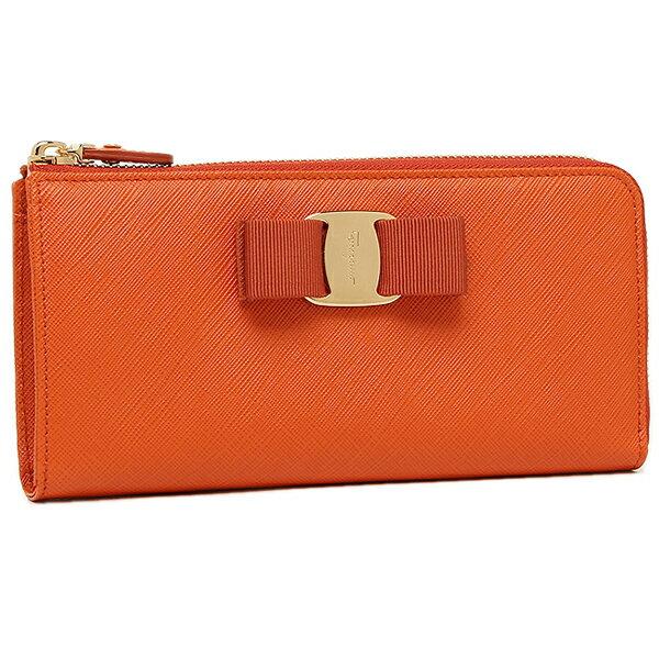 フェラガモ 長財布 レディース Salvatore Ferragamo 22C124 0656980 ライトオレンジ