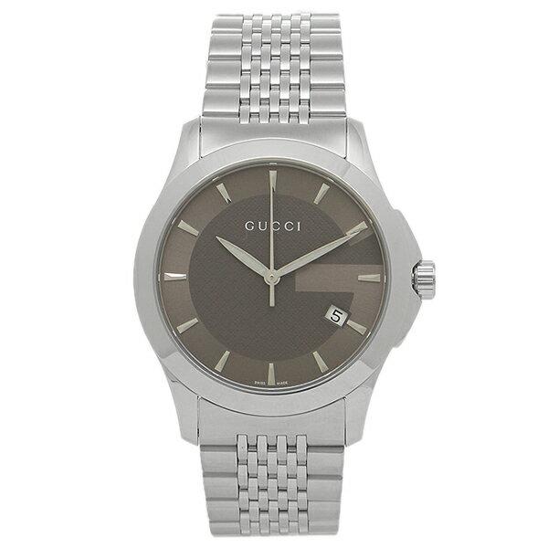 【24時間限定ポイント5倍】グッチ 腕時計 レディース GUCCI YA126418 グレー シルバー