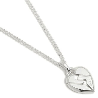 Gucci necklace Lady's / men GUCCI 313463 J8400 8,106 knots heart pendant pendant silver