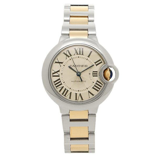 カルティエ 腕時計 レディース CARTIER W2BB0002 シルバー イエローゴールド