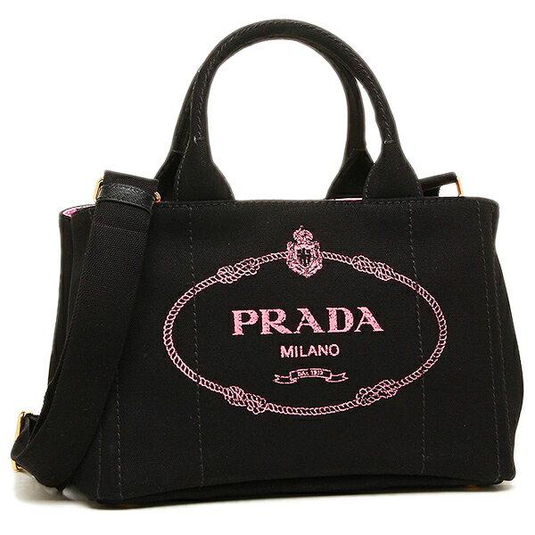 プラダ トートバッグ レディース PRADA 1BG439V ZKIOOX UGR ブラック ピンク