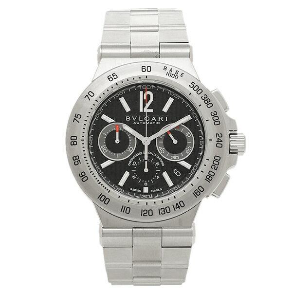 【4時間限定ポイント10倍】ブルガリ BVLGARI 時計 腕時計 メンズ ブルガリ 時計 メンズ BVLGARI DP42BSSDCH ディアゴノプロフェッショナル 腕時計 ウォッチ シルバー/ブラック
