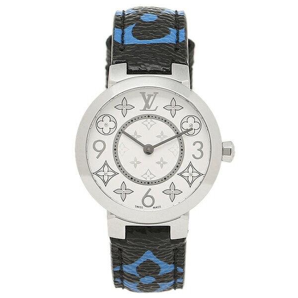 【エントリーでポイント最大19倍】LOUIS VUITTON 時計 ルイヴィトン Q12MGH ブラック ブルー シルバー ホワイト クリスマスセール