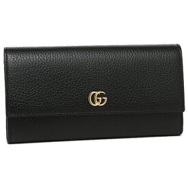 【返品保証】グッチ 長財布 レディース GUCCI 456116 CAO0G 1000 ブラック