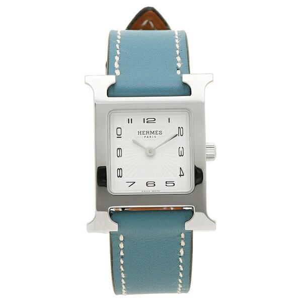HERMES 腕時計 エルメス 036708WW00 HH1.210.131/WJE ブルージーン レディース シルバー ホワイト クリスマスセール