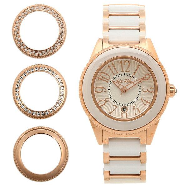 フォリフォリ FOLLI FOLLIE 時計 腕時計 フォリフォリ 時計 FOLLI FOLLIE 腕時計 レディース WF0B033BDW セラミック ホワイト/ピンクゴールド ウォッチ