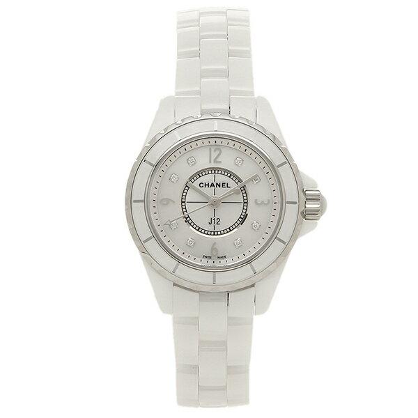 【エントリーでポイント最大19倍】シャネル CHANEL 時計 腕時計 シャネル 腕時計 CHANEL J12 H2570 29MM 8Pダイヤモンド ホワイトセラミック レディースウォッチシリアル有 クリスマスセール