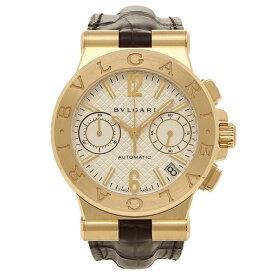 【4時間限定ポイント10倍】BVLGARI レディース メンズ 腕時計 ブルガリ DG35C6GLDCH ホワイト ブラウン イエローゴールド