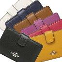 コーチ COACH 財布 アウトレット F54010 クロスグレイン ミディアム コーナー ジップウォレット 二つ折り財布