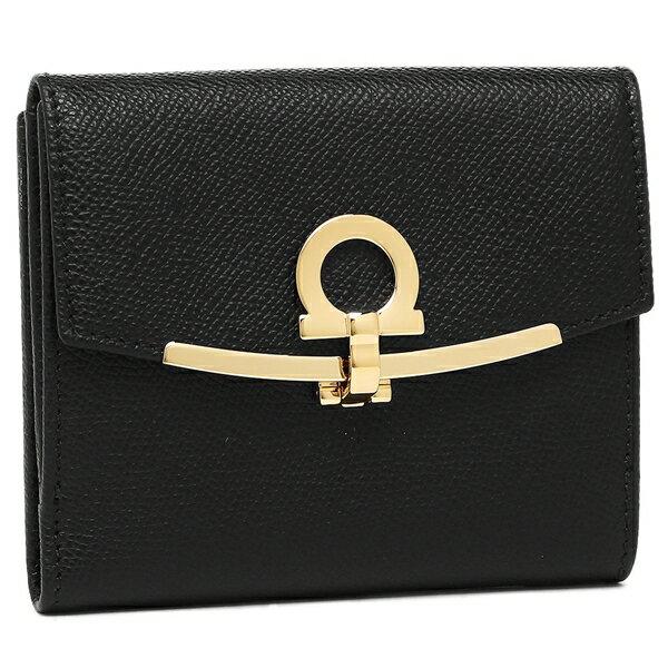 フェラガモ 折財布 レディース Salvatore Ferragamo 22C877 0673998 ブラック