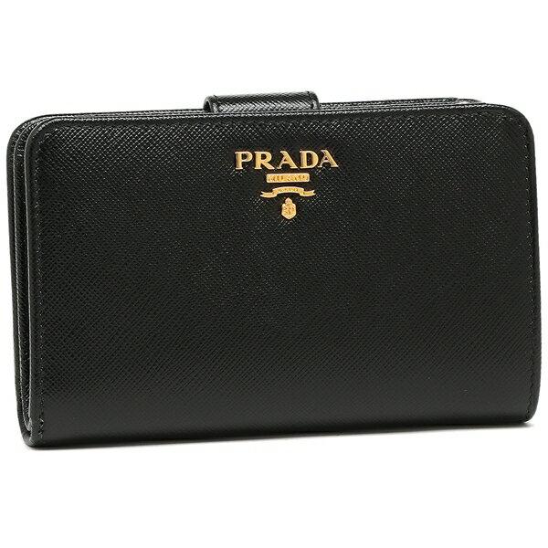 【4時間限定ポイント10倍】プラダ 折り財布 レディース PRADA 1ML225 QWA F0002 ブラック